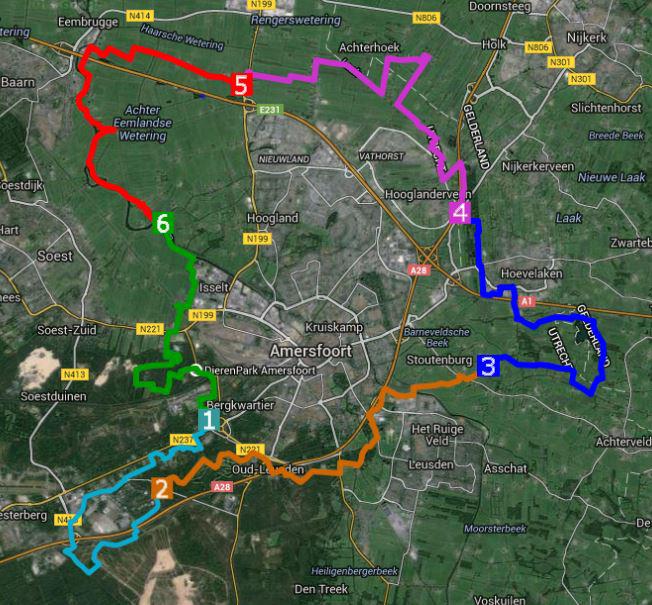 Overzicht routes 2015